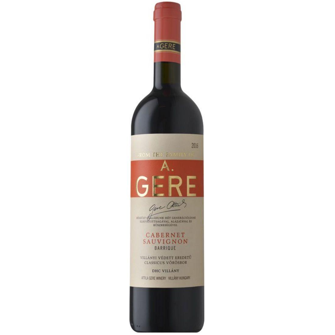 Gere Attila Cabernet Sauvignon barrique 2015/16 0,75l