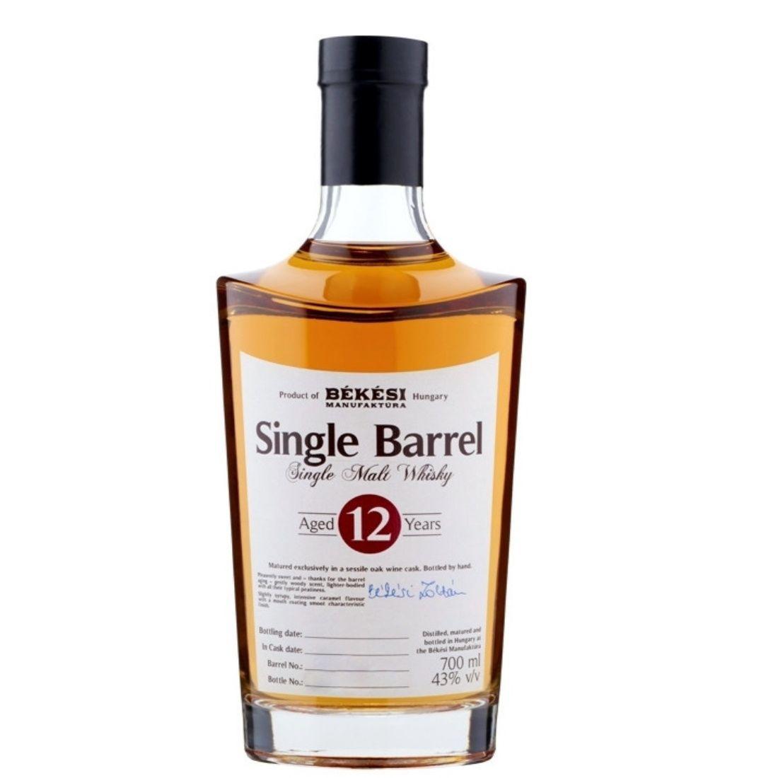 Békési Manufaktura Single Barrel Whisky 12éves 0,7l