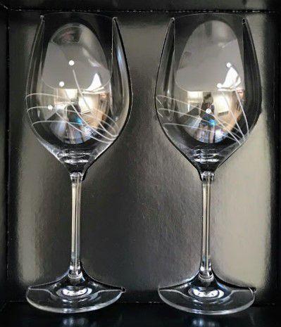 Swarovski Kristállyal díszitett vörösboros pohárszett 2db
