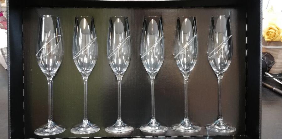 Swarovski kristály pezsgőspohár szett 6db